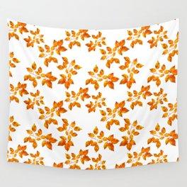 Orange Leaf Art Wall Tapestry