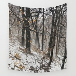 Winter at the park Wall Tapestry