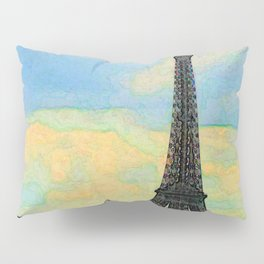 Watercolor Dream of Paris Pillow Sham