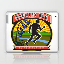 Country Marathon Run Icon Laptop & iPad Skin