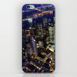 New York City, Manhattan, USA night cityscape iPhone Skin