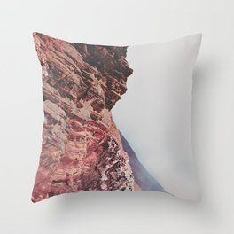 Person-like mountain formation Throw Pillow