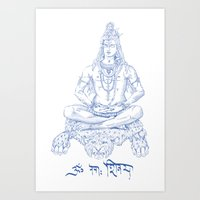 shiva Art Prints featuring SHIVA by Only Vector Store - Allan Rodrigo