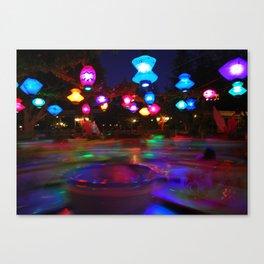 Teacups Blur at Night Canvas Print