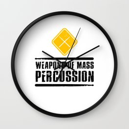 Weapons of Mass Percussion Drumstick Drum Player  Wall Clock