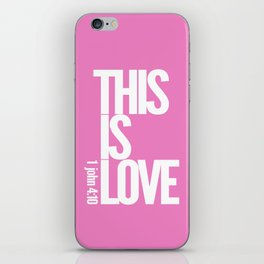 THIS IS LOVE (pink) iPhone Skin