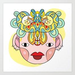 Let's wear a mask Art Print