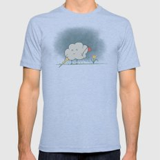 I wandered lonely as a cloud.  MEDIUM Tri-Blue Mens Fitted Tee