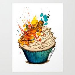 Cup Cake Grafite Art Print