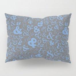 Ampersands - Blue Gray Pillow Sham