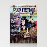 pulp fiction Stationery Cards featuring Pulp Fiction by Jessis Kunstpunkt.