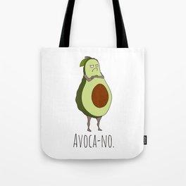 Avoca-no: Grumpy Avocado Tote Bag