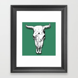 Longhorn skull Framed Art Print