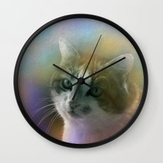 molly - the cat Wall Clock