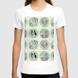New Zealand Birds Pattern T-shirt