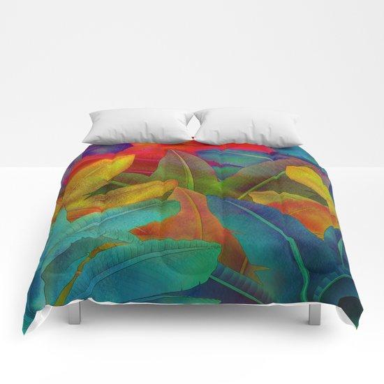 Exotic Leaf Pattern Comforters