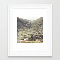 castle in the sky Framed Art Prints featuring castle by January Studio