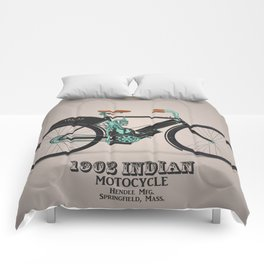 1902 indian motorcycle Comforters