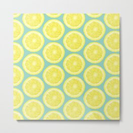 Minty Lemonade Metal Print