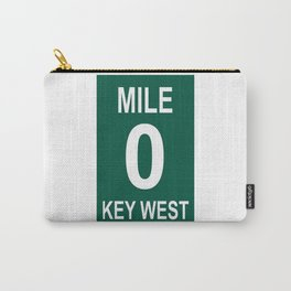 Key West Mile Marker 0 (Zero) U.S. Route 1 (US 1) through the Florida Keys to Key West Carry-All Pouch
