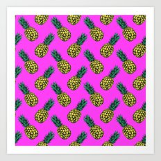 Neo-Pineapple - Miami Art Print