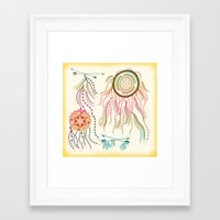 dream catcher Framed Art Prints featuring Dream Catcher by famenxt
