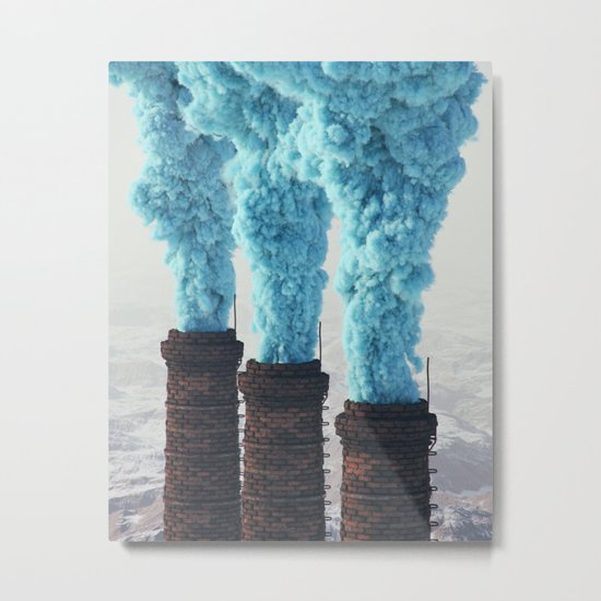 Blue Pollution Metal Print