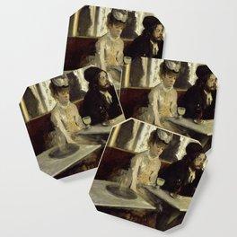 """Edgar Degas """"The Absinthe Drinker (Au Café, l'Absinthe)"""" Coaster"""