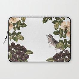 Blackberry Spring Garden - Birds and Bees Cream Flowers Laptop Sleeve