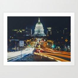 Wisconsin and Washington Art Print
