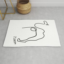 Abstract animals, minimal contemporary camel  Rug