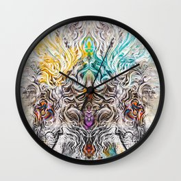 Lion Twins Wall Clock