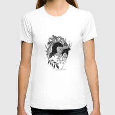 Long Term Love MEDIUM White Womens Fitted Tee