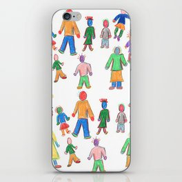 Multicolor People Multiples iPhone Skin
