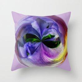 Purple Iris Orb Throw Pillow