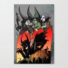 Witches meeting Canvas Print