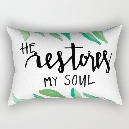 He restores my soul Rectangular Pillow