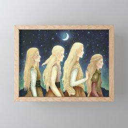 Nordic fable Framed Mini Art Print