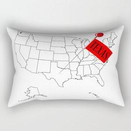 Knob Pin Texas Rectangular Pillow