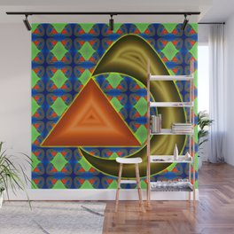 Absorbing triangle ... Wall Mural
