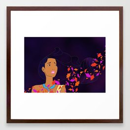 colours of the wind Framed Art Print