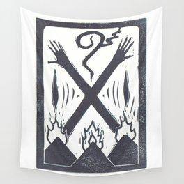 Banishment (White) Wall Tapestry