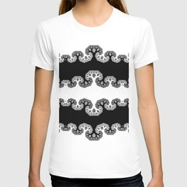 Fractal Tree BW T-shirt