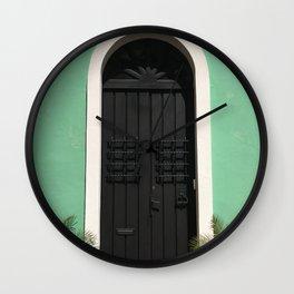 Old San Juan Door Wall Clock