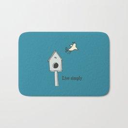 Live simply Bath Mat