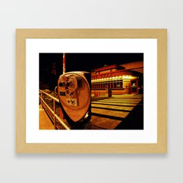 Golden Cafe Framed Art Print
