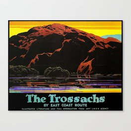 The Trossachs by East Coast Route Travel Poster Canvas Print