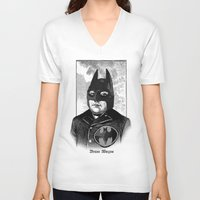 bat man V-neck T-shirts featuring BAT MAN by DIVIDUS