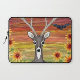 white tailed deer, bats, black eyed susans Laptop Sleeve