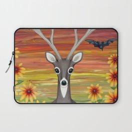 white tailed deer, bats, black eyed susans Laptop Sleeve
